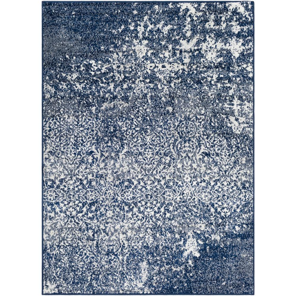 Morana Navy 7 ft. 10 in. x 10 ft. 3 in. Distressed Area Rug