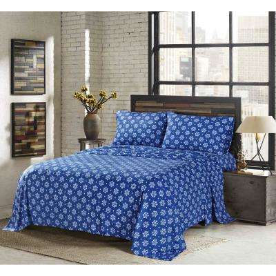 Claribel Royal King 4-Piece Fleece Sheet Set