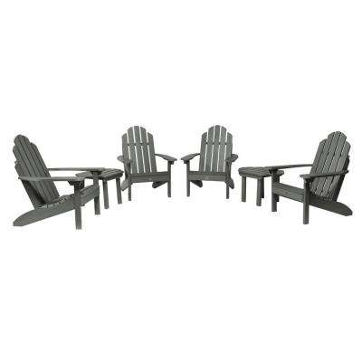 Classic Wesport Coastal Teak 6-Piece Plastic Patio Fire Pit Seating Set