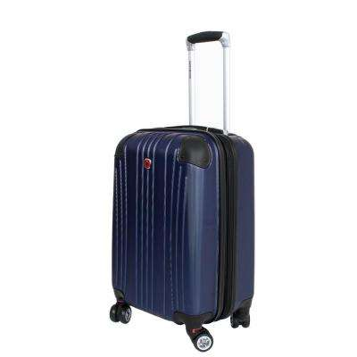 20 in. Navy Hardside Spinner Suitcase