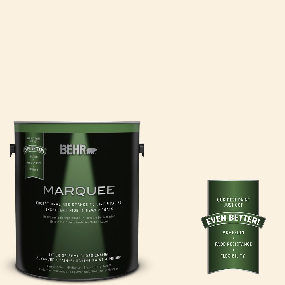 1-gal. #M230-1 Sweet Coconut Milk Semi-Gloss Enamel Exterior Paint
