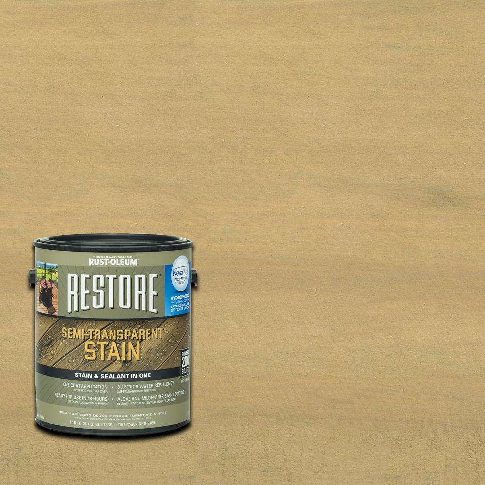 Rust-Oleum Restore 1 gal. Semi-Transparent Stain Camel with NeverWet