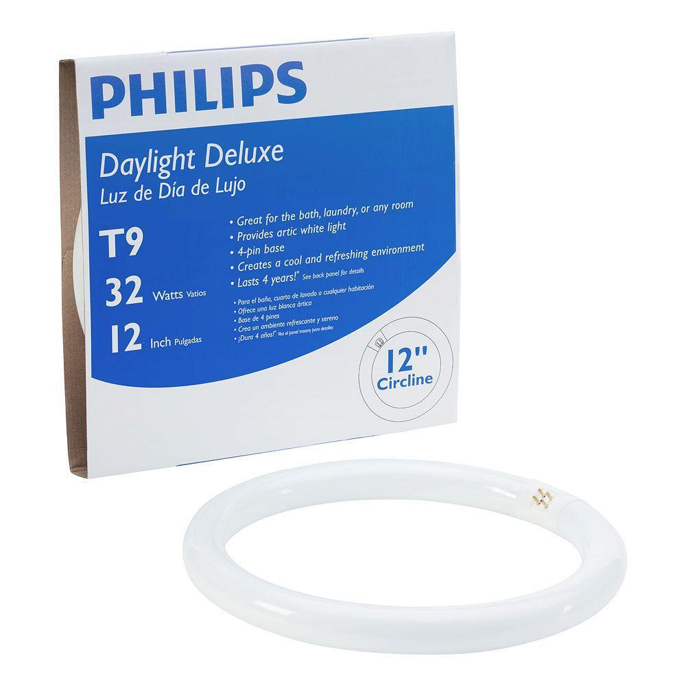 Circline Bulb Daylight Deluxe 6500K Flourescent Light Fixtures 32-Watt 12 in