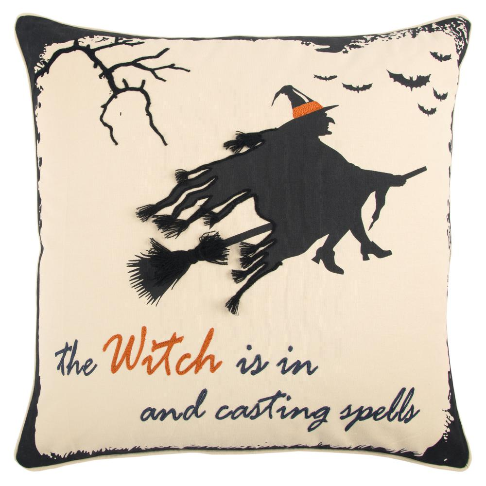 rizzy home halloween witch 20 in. x 20 in. decorative filled pillow