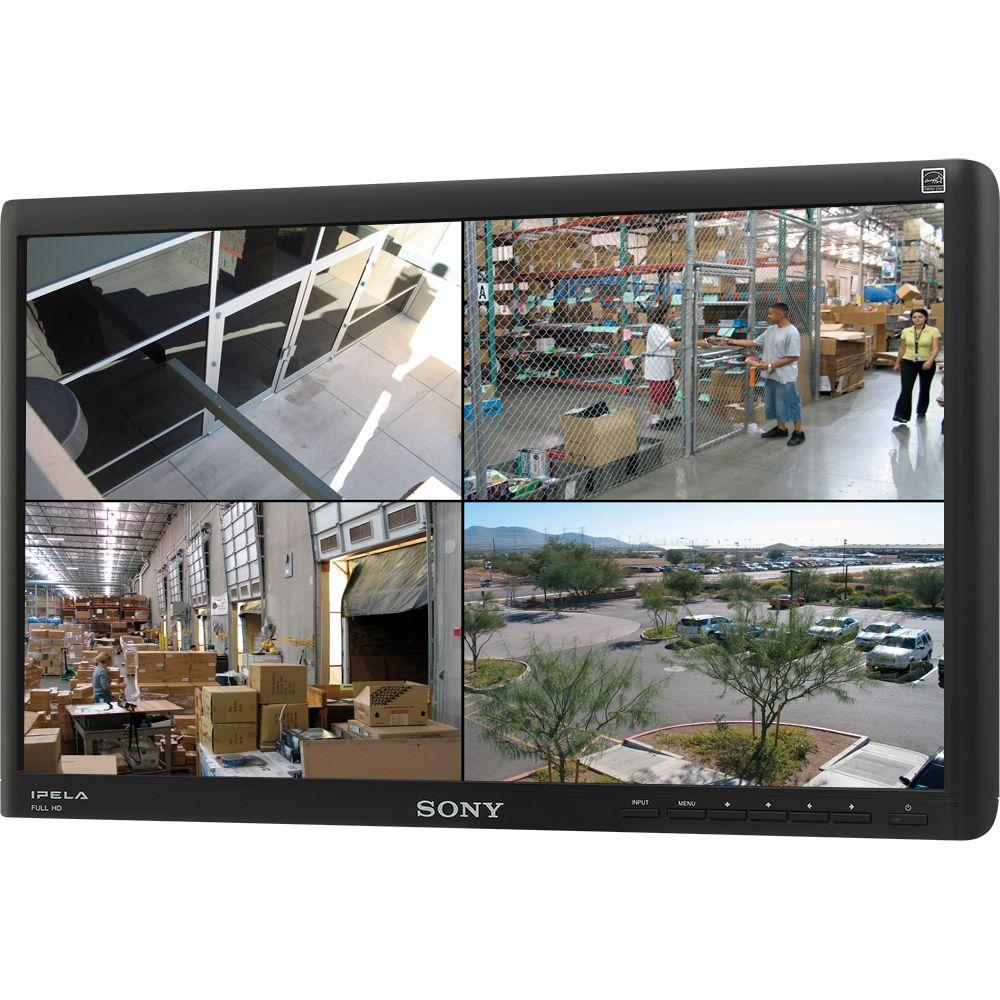 SONY 22 in. 1920 x 1080 Full HD Widescreen LCD Security Monitor with Built-In Speakers-DISCONTINUED