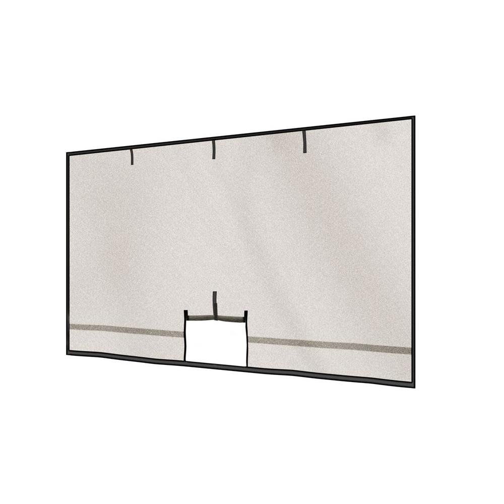 ShelterLogic 16 ft. x 8 ft. Garage Screen with Roll-Up Pipe-DISCONTINUED