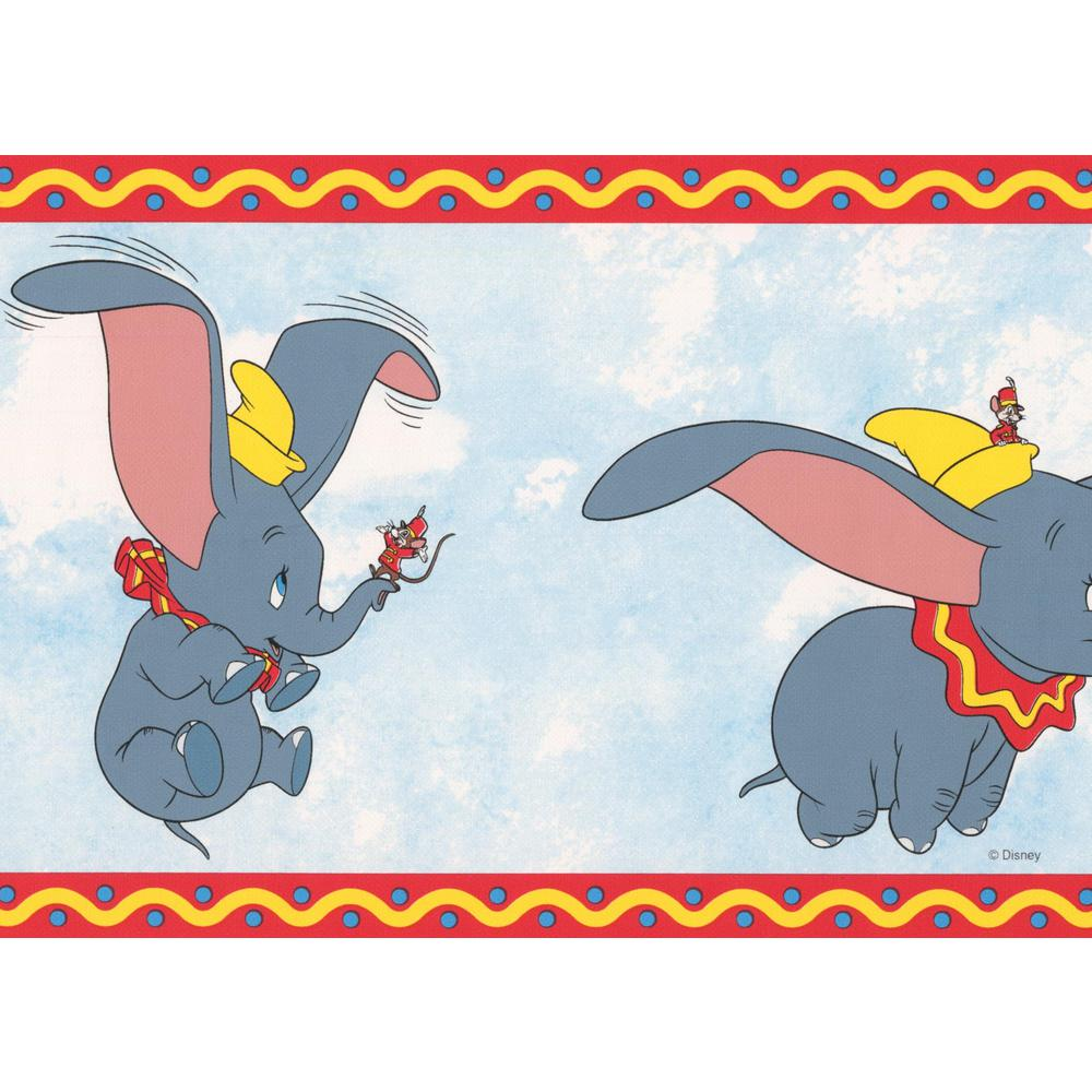Retro Art Dumbo The Elephant Disney Cartoon Prepasted Wallpaper