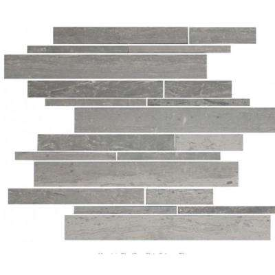 12 in. x 12 in. x 8 mm Tile Esque Mountain Blue-Grey Slate Subway Mesh-Mounted Mosaic Tile