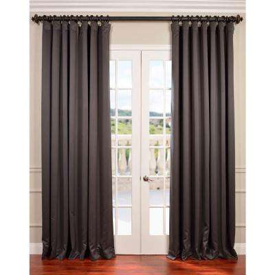 Semi-Opaque Anthracite Grey Doublewide Blackout Curtain - 100 in. W x 84 in. L (1 Panel)