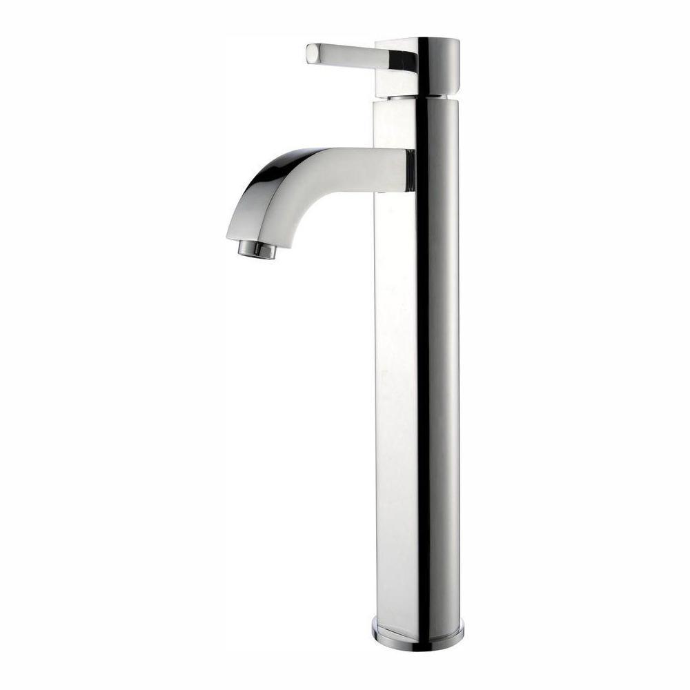 Ramus Single Hole Single-Handle Vessel Bathroom Faucet in Chrome