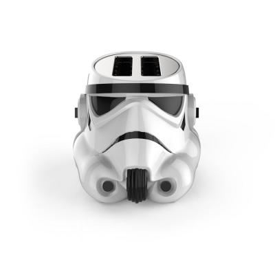 Stormtrooper 2-Slice White Toaster with Crumb Tray, Automatic Shut-Off and Temperature Control