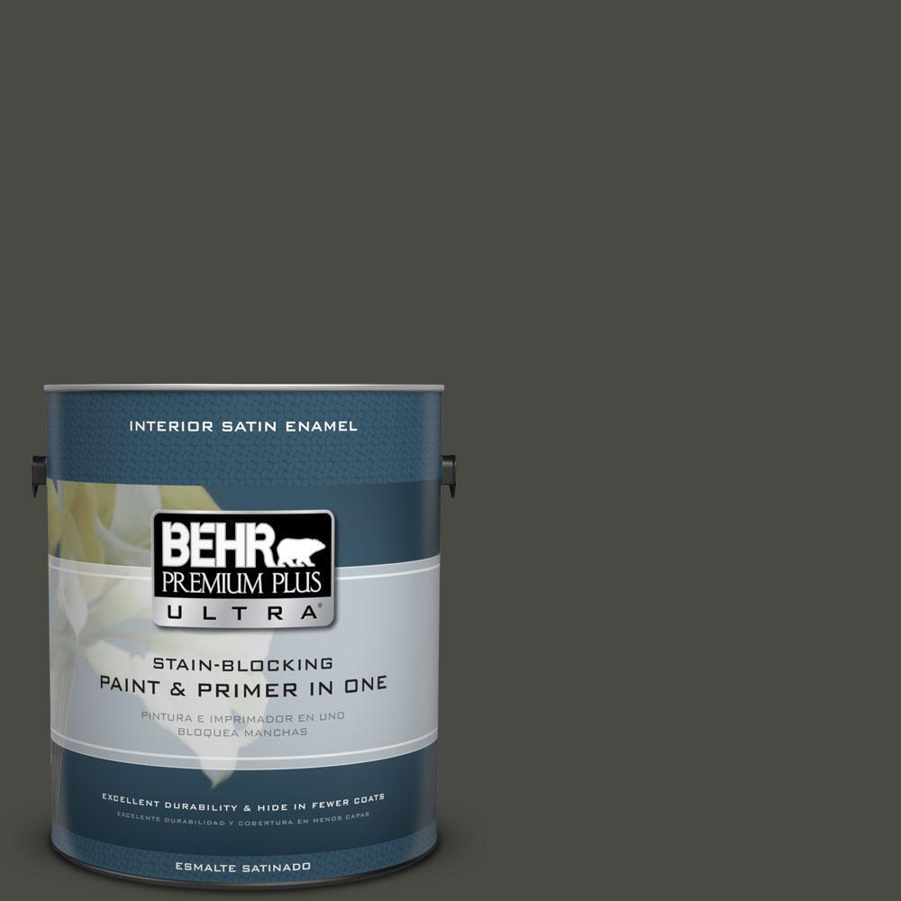 BEHR Premium Plus Ultra 1-gal. #ECC-47-3 Twilight Forest Satin Enamel Interior Paint