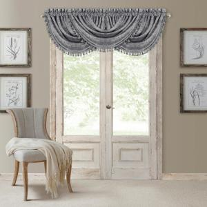 Antonia 52 inch W x 36 inch L, Polyester Blackout Rod Pocket Window Valance in Silver by