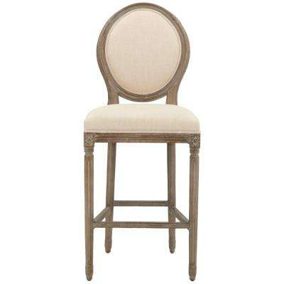 Jacques 30.5 in. Natural Cushioned Bar Stool ...  sc 1 st  The Home Depot : bar stool with back and arms - islam-shia.org