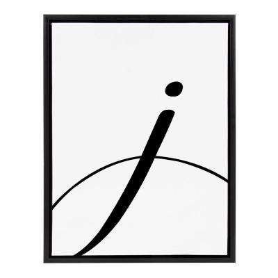 "Sylvie ""Letter J"" Framed Canvas Wall Art"