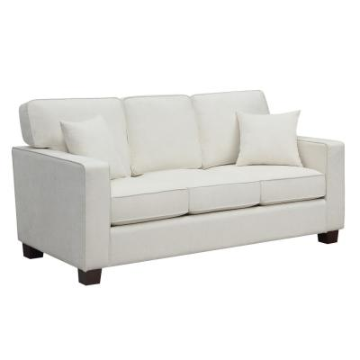Russell 71 in. Ivory Polyester 3-Seater Lawson Sofa with Removable Cushions