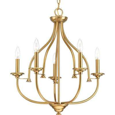 Tinsley Collection 5-Light Brushed Bronze Chandelier
