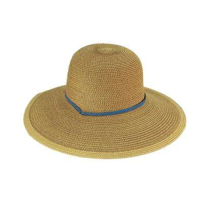 Solid Periwinkle Blue Straw Hat