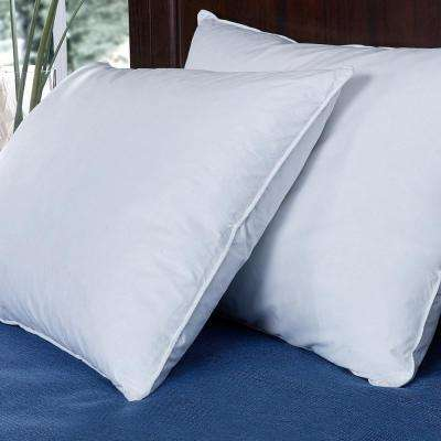 Puredown Down and Feather Bed Jumbo Pillow in Standard/Queen (Set of 2)