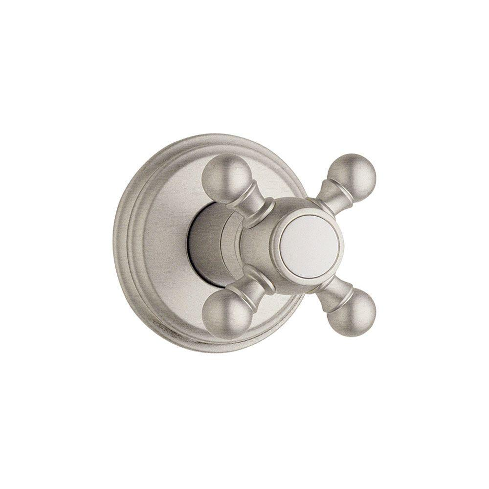 Geneva Single-Handle Volume Control Valve Trim Kit in Brushed Nickel with