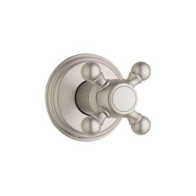 Geneva Single-Handle Volume Control Valve Trim Kit in Brushed Nickel with Cross Handle (Valve Sold Separately)