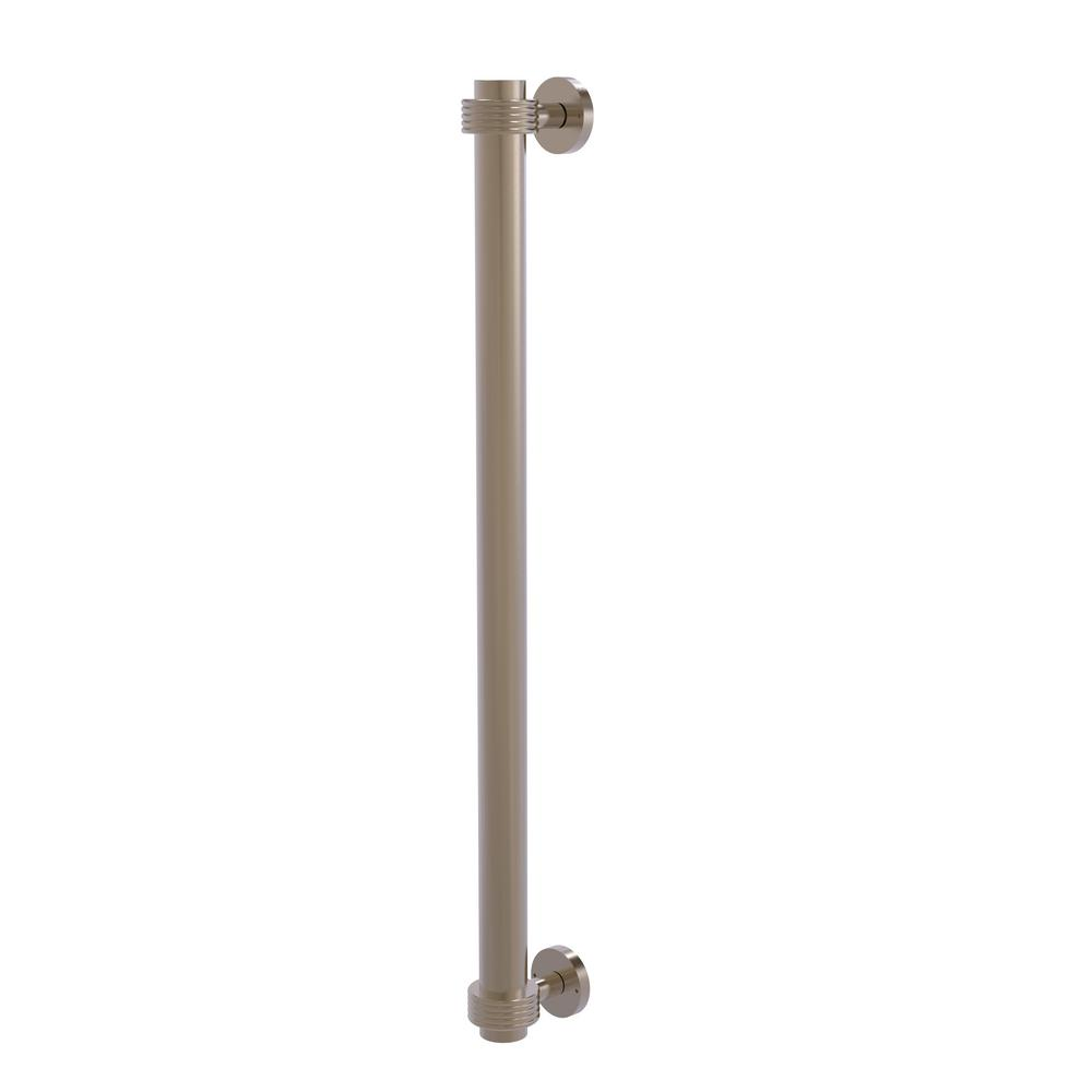 Allied Brass 18 in. Center-to-Center Refrigerator Pull with Groovy Aents in Antique Pewter Transform your kitchen with this elegant Refrigerator and Appliance Pull. This pull is designed for replacing the pulls or handles on your built-in refrigerator, freezer or any other built in appliance. Appliance pull is made of solid brass and provided with a lifetime finish to insure products will provide a lifetime of service.