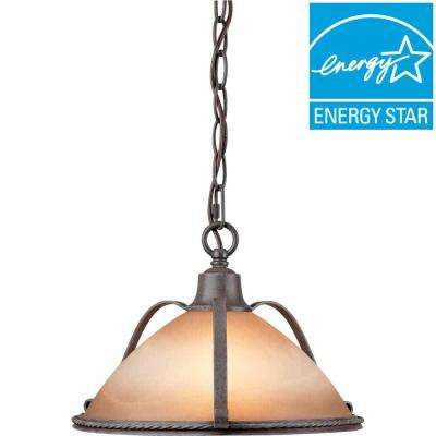 Lenor 2-Light Frontier Iron Incandescent Ceiling Semi-Flush Mount Light