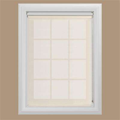 23 in. W x 72 in. L Cream Horizontal Solar Shade