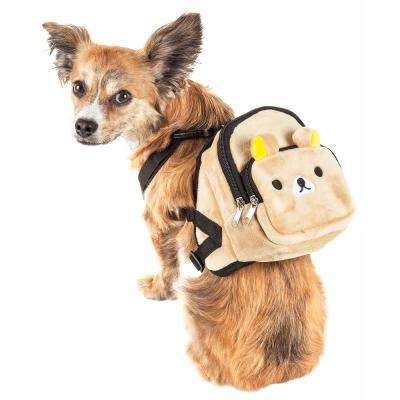 Teddy Tails Small Dual-Pocketed Compartmental Animated Dog Harness Backpack