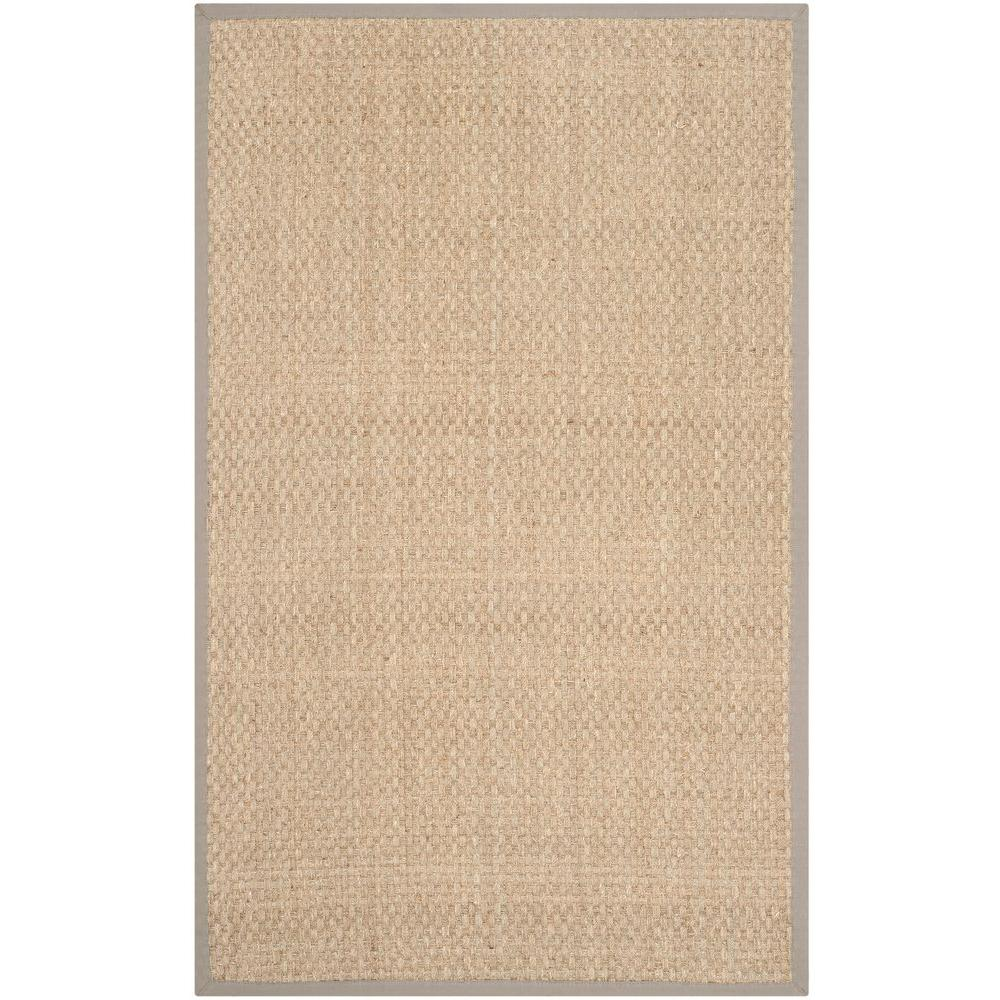 Natural Fiber Beige/Grey 2 ft. 6 in. x 4 ft. Area