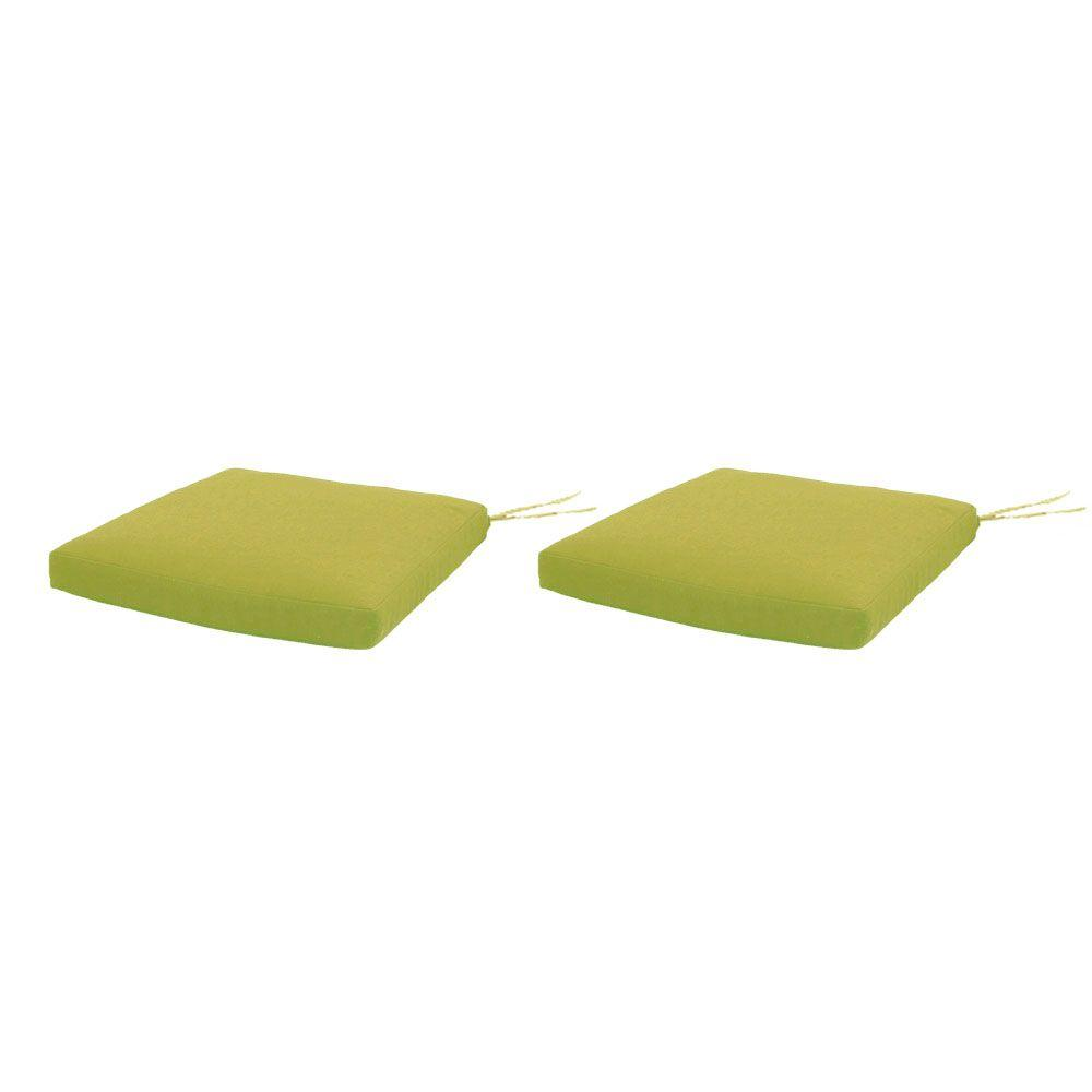 green chair cushions seat pad martha stewart living charlottetown green bean replacement outdoor dining chair cushion 2pack