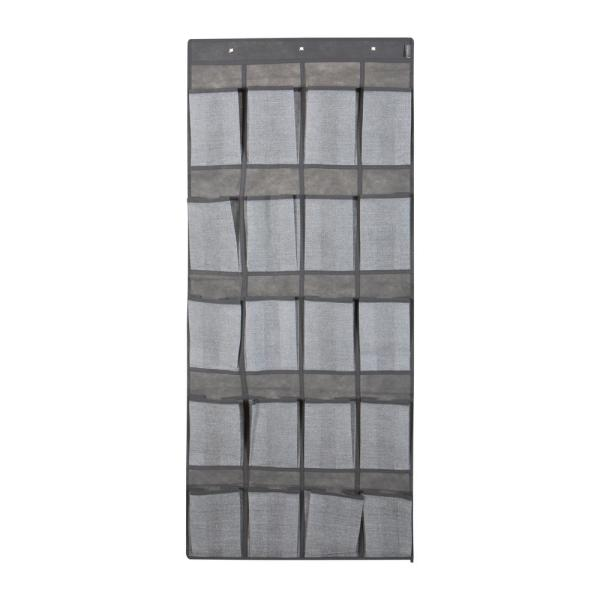 20-Pocket  Shoe Organizer in Heather Grey