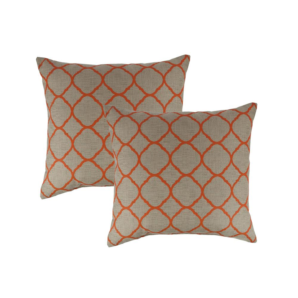 Accord Koi 18 in. Outdoor Pillow (set of 2)