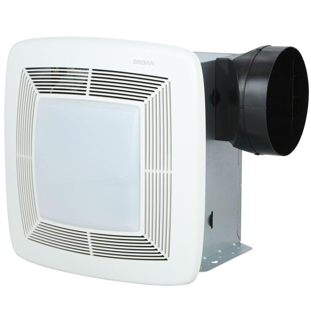 Broan QT Series Very Quiet 110 CFM Ceiling Bathroom Exhaust Fan with Light and Night Light