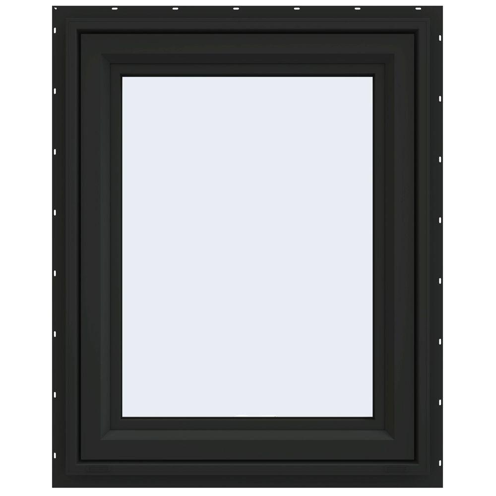 JELD-WEN 29.5 in. x 35.5 in. V-4500 Series Awning Vinyl Window - Bronze