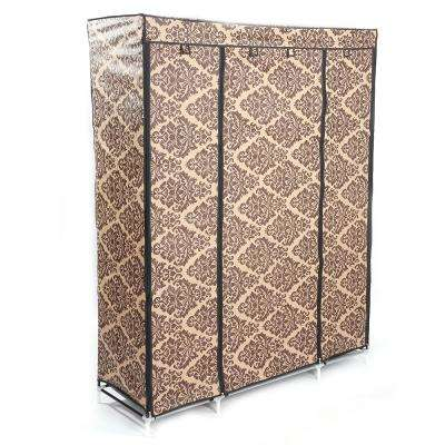 50 in. x 65 in. x 18 in. Alloy and Plastic European-Style Decorative Pattern Metal Garment Rack