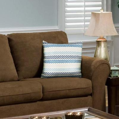 Altair Blue and Multicolored Geometric Hypoallergenic Polyester 18 in. x 18 in. Throw Pillow