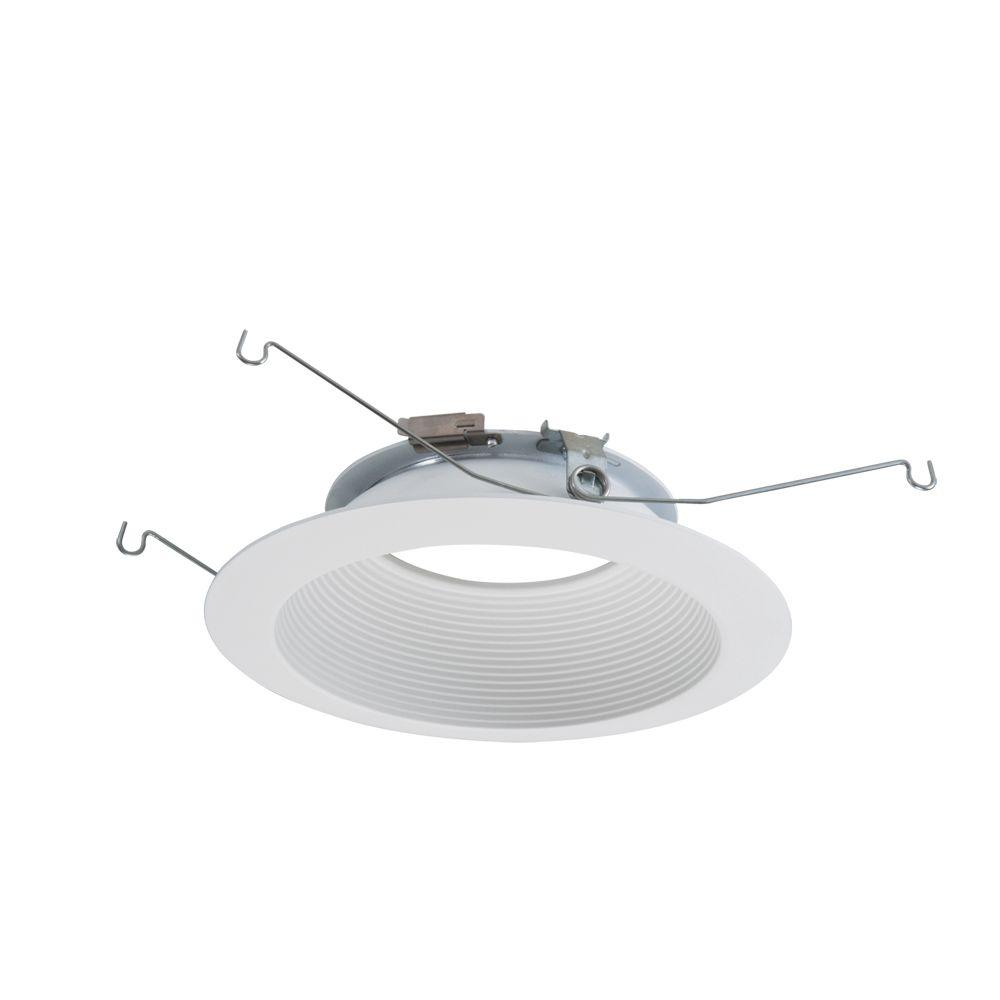 Halo ML 6 in. Matte White LED Recessed Ceiling Light  Attachable Module Baffle Trim