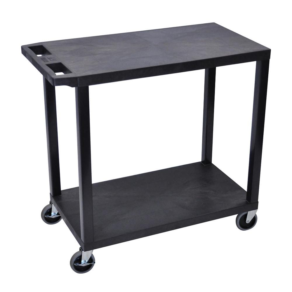 EC 32 in. 2-Shelf Utility Cart in Black