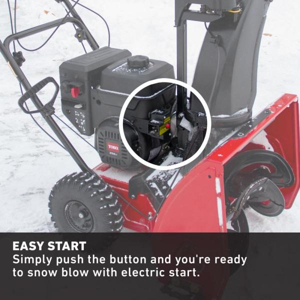 Toro Snowmaster 824 Qxe 24 In 252cc Single Stage Gas Snow Blower 36003 The Home Depot