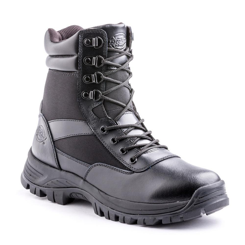 f82a48eea3b5 Dickies Javelin 8 in. Men Size 7 Black Soft Toe Leather Work Boot ...