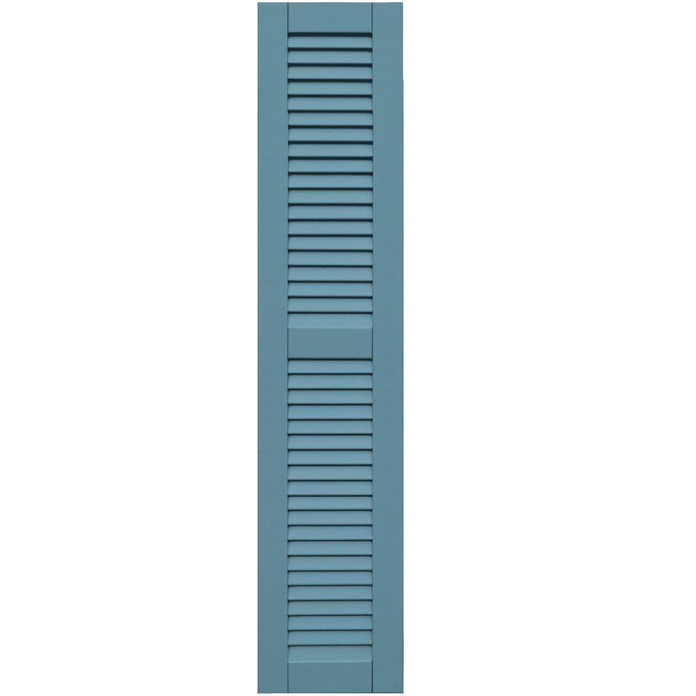 Winworks Wood Composite 12 in. x 57 in. Louvered Shutters Pair #645 Harbor