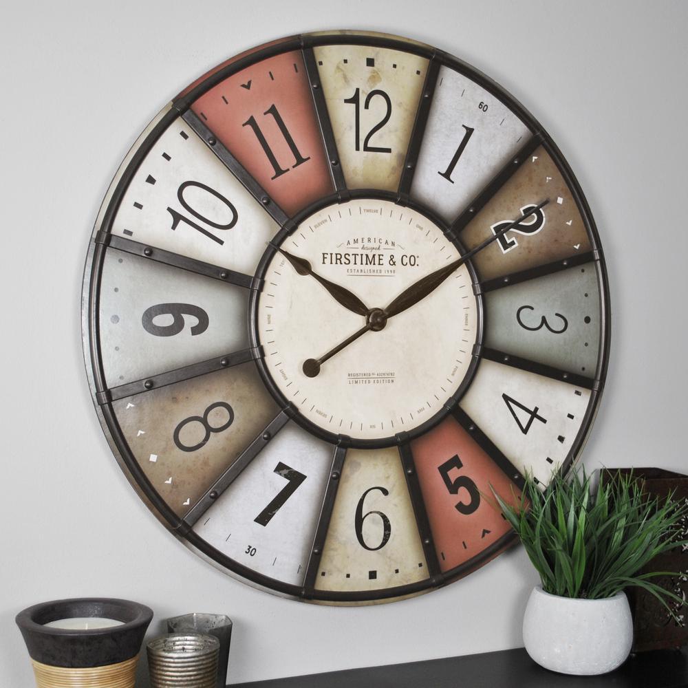 27 in. Color Motif Multicolor Wall Clock