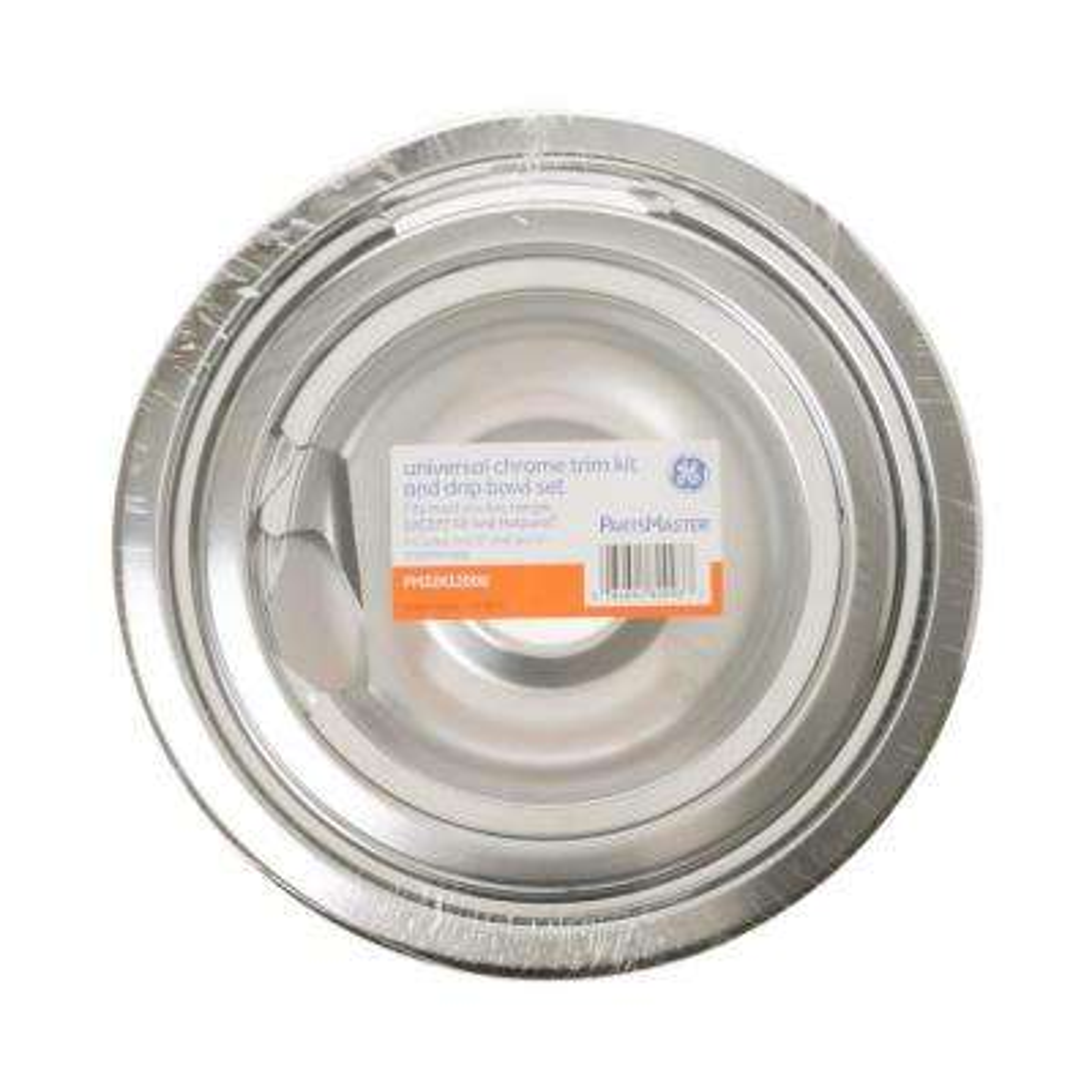 Chrome Burner Bowls with Trim Rings