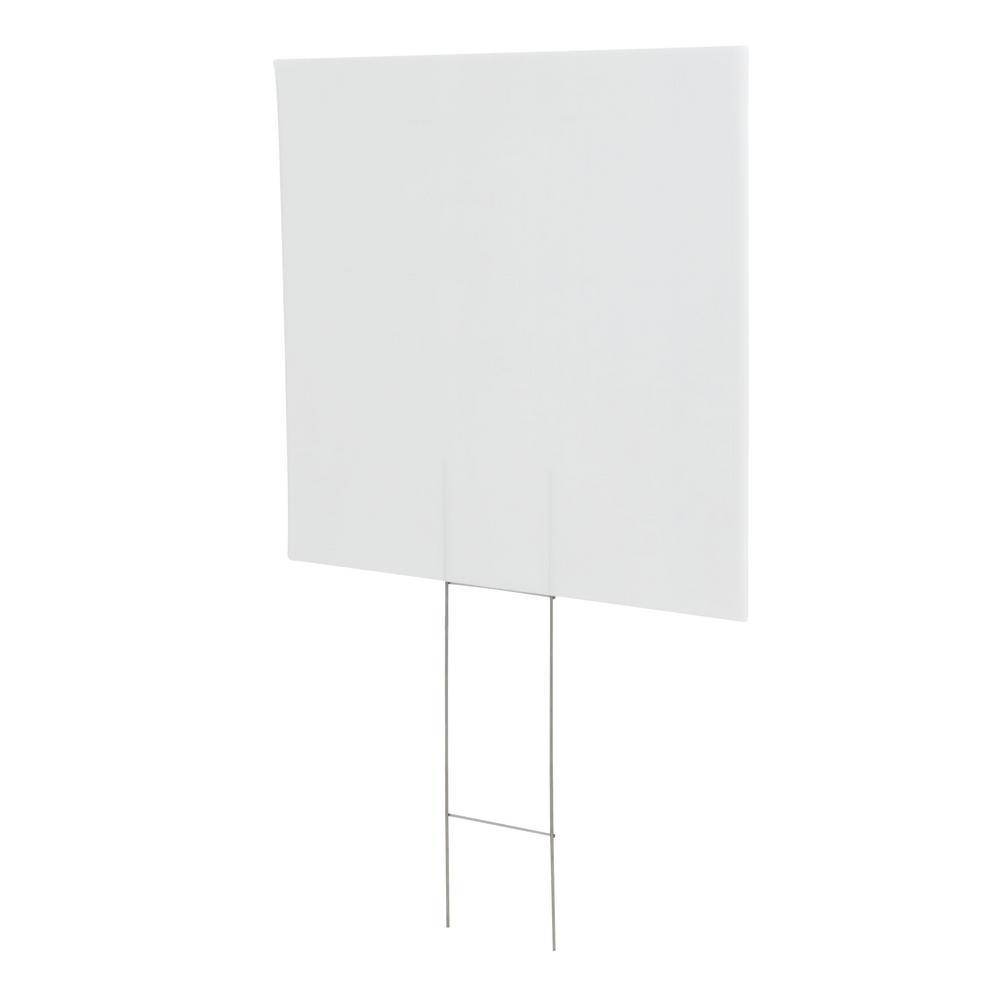 Everbilt 20 in. x 24 in. Corrugated Plastic Custom Create A Sign