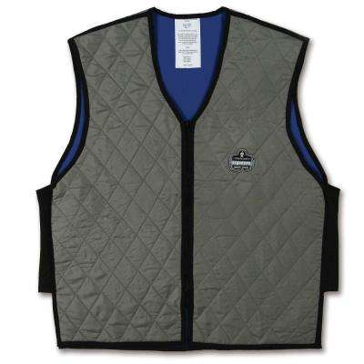Chill-Its Unisex 2X-Large Gray Evaporative Cooling Vest