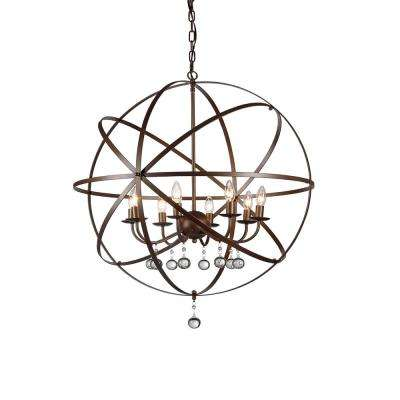 Jossie 8-Light Bronze Chandelier with Shade