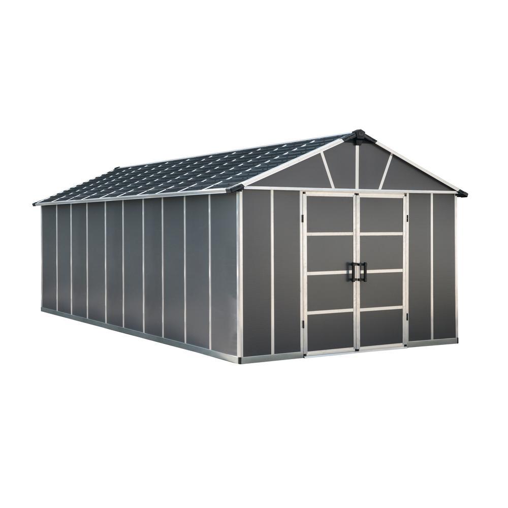 Yukon 11 ft. W x 21.3 ft. D x 8.3 ft. H Dark Gray Storage Shed