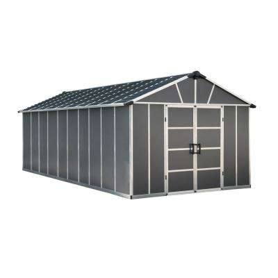 Yukon 11 ft. W x 21.3 ft. D x 8.3 ft. H Dark Gray Storage Shed