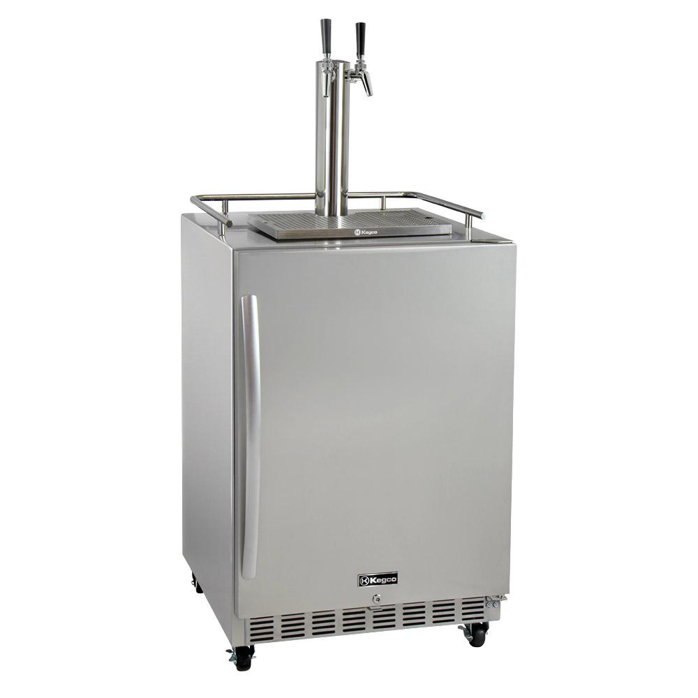 Kegco Digital Commercial Outdoor Full Size Beer Keg Dispenser with ...